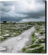 The Dolmen In The Burren Canvas Print by Menega Sabidussi