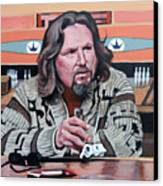 The Dude Canvas Print by Tom Roderick