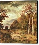 The Edge Of The Forest Canvas Print by Narcisse Virgile Diaz de la Pena