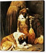 The Faith Of Saint Bernard Canvas Print by John Emms