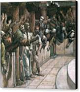 The False Witness Canvas Print by Tissot
