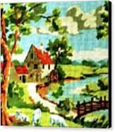 The Farm House Canvas Print by Farah Faizal