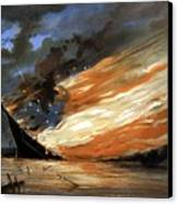 The Fate Of The Rebel Flag Canvas Print by War Is Hell Store
