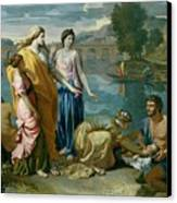 The Finding Of Moses Canvas Print by Nicolas Poussin