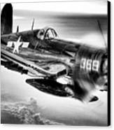 The Flight Home Bw Canvas Print by JC Findley