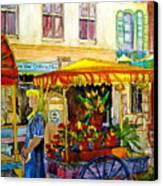 The Flowercart Canvas Print by Carole Spandau