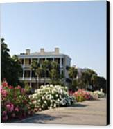 The Flowers At The Battery Charleston Sc Canvas Print by Susanne Van Hulst