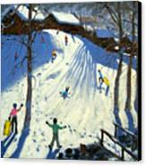 The Footbridge Canvas Print by Andrew Macara