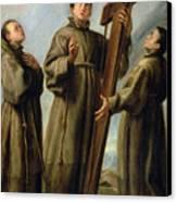 The Franciscan Martyrs In Japan Canvas Print by Don Juan Carreno de Miranda