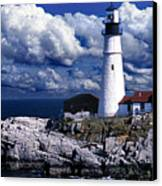 The Front At Portland Head Canvas Print by Skip Willits