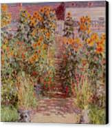 The Garden At Vetheuil Canvas Print by Claude Monet
