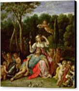 The Garden Of Armida Canvas Print by David the younger Teniers
