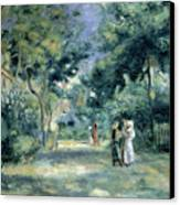 The Gardens In Montmartre Canvas Print by Pierre Auguste Renoir
