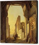 The Gates Of El Geber In Morocco Canvas Print by Francois Antoine Bossuet