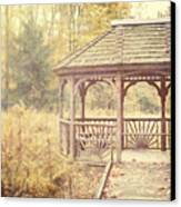 The Gazebo In The Woods Canvas Print by Lisa Russo