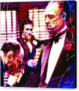 The Godfather Kiss Canvas Print by David Lloyd Glover