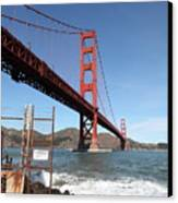 The Golden Gate Bridge At Fort Point - 5d21473 Canvas Print by Wingsdomain Art and Photography