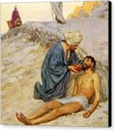 The Good Samaritan Canvas Print by William Henry Margetson