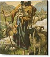 The Good Shepherd Canvas Print by English School