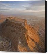 The Great Refuge Of Masada Looms Canvas Print by Michael Melford