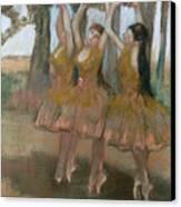 The Greek Dance Canvas Print by Edgar Degas