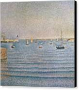 The Harbour At Portrieux Canvas Print by Paul Signac