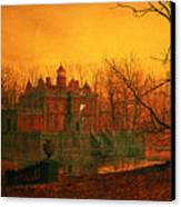 The Haunted House Canvas Print by John Atkinson Grimshaw