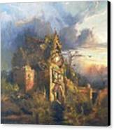 The Haunted House Canvas Print by Thomas Moran