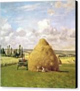 The Haystack Canvas Print by Camille Pissarro