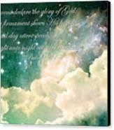 The Heavens Declare Canvas Print by Stephanie Frey
