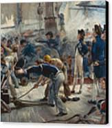 The Hero Of Trafalgar Canvas Print by William Heysham Overend