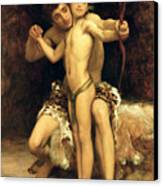 The Hit Canvas Print by Frederic Leighton