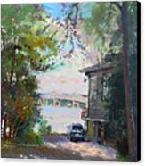 The House By The River Canvas Print by Ylli Haruni