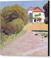 The House With The Red Roof Canvas Print by Felix Edouard Vallotton