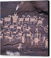 The Hunt Scene- Ancient Pueblo-anasazi Canvas Print by Ira Block