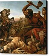 The Hunted Slaves Canvas Print by Richard Ansdell