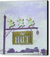 The Hut Bbq Restaurant Sign Canvas Print by Jerry Grissom