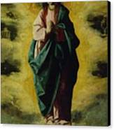 The Immaculate Conception Canvas Print by Francisco de Zurbaran