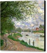 The Island Of La Grande Jatte Canvas Print by Claude Monet