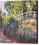 The Japanese Bridge Canvas Print by Claude Monet