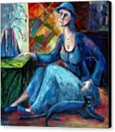 The Jeans Girl. 20 Years Later Canvas Print by Elisheva Nesis
