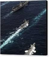 The John C. Stennis Carrier Strike Canvas Print by Stocktrek Images