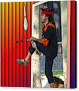 The Juggler Canvas Print by Sue Melvin