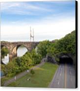 The Kelly Drive Rock Tunnel Canvas Print by Bill Cannon