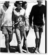 The Kennedys, Robert, Jackie, Ethel Canvas Print by Everett