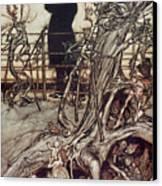 The Kensington Gardens Are In London Where The King Lives Canvas Print by Arthur Rackham