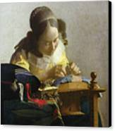 The Lacemaker Canvas Print by Jan Vermeer