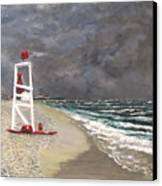 The Last Lifeguard Canvas Print by Jack Skinner