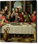 The Last Supper Canvas Print by Vicente Juan Macip
