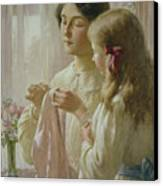 The Lesson Canvas Print by William Kay Blacklock